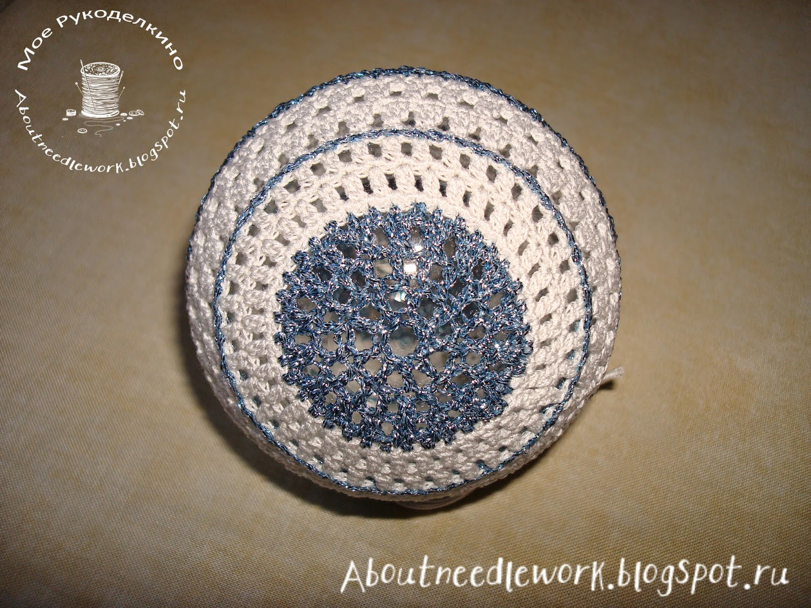 Вязание крючком: елочный шар