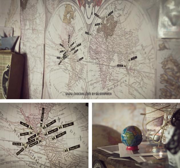 cena viajera - mapa mundi antiguo