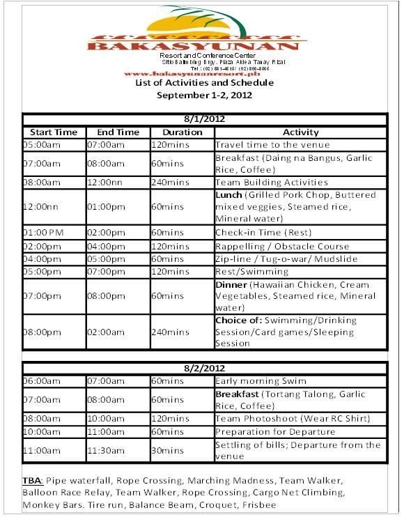 Bakasyunan Resort Tanay Rizal Rates