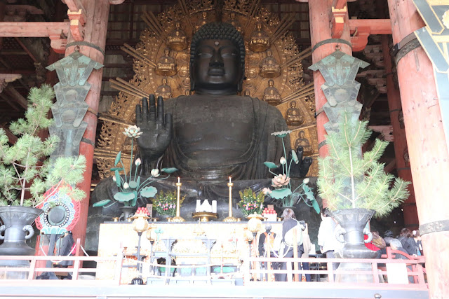 Big Buddha Hall (Daibutsuden) is the world's largest wooden building  at Todai-ji Temple in Nara Park, Japan