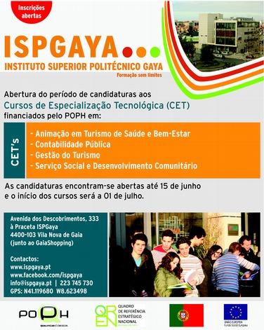 Cursos CET financiados pelo POPH – Vila Nova de Gaia 2013