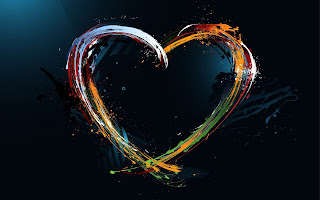 Abstract Colors Heart HD Love Wallpaper