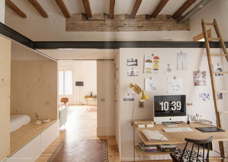 El cl sico piso del eixample de barcelona transformado en un acogedor 39 loft 39 maria victrix - Subastas de pisos en barcelona ...