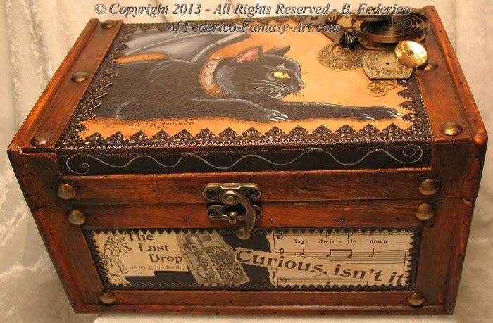 Steampunk Vampire Cat