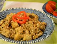Cubinhos de Tofu com Gergelim (vegana)