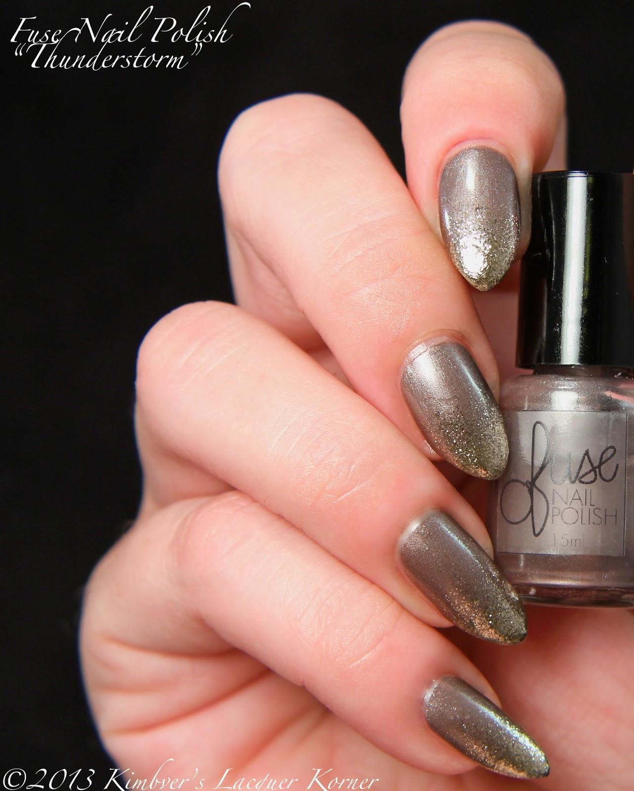 Makeup HD: Fuse Nail Polish: Thunderstorm plus glitter gradient!