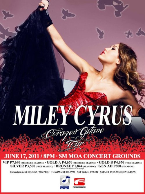 MILEY CYRUS LIVE IN MANILA | Ticket Details | Poster, Miley Cyrus Live in Manila Poster, picture, image, photos, pic