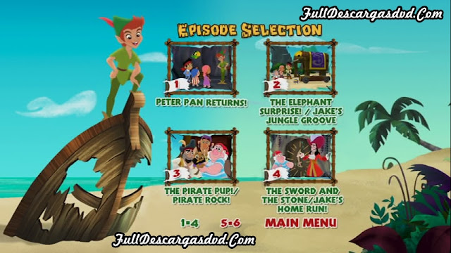 Jake Neverland Pirates Peter Pan Returns 2012 DVDR NTSC Español Latino