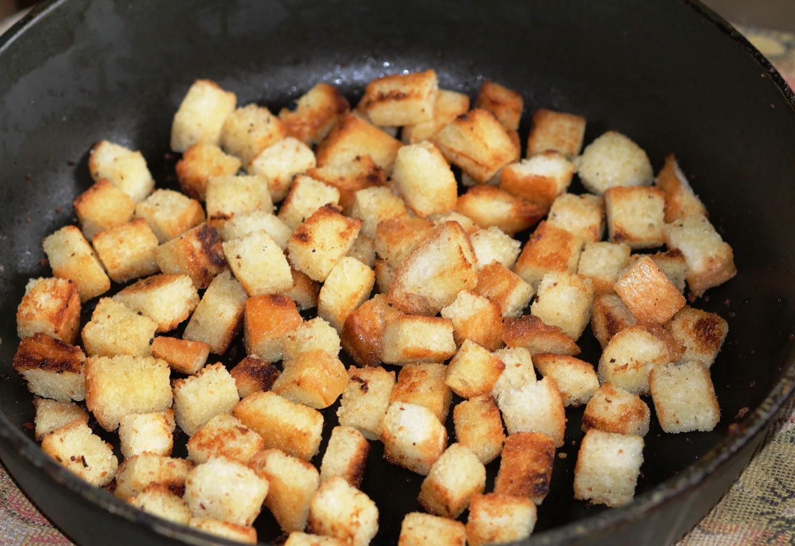 Как на сковородке сделать сухарики 982