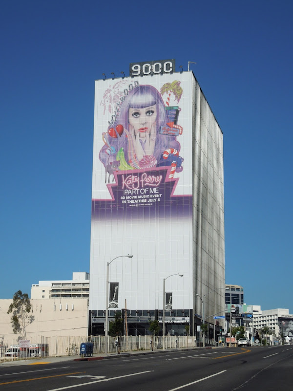 Giant Katy Perry movie billboard Sunset Strip
