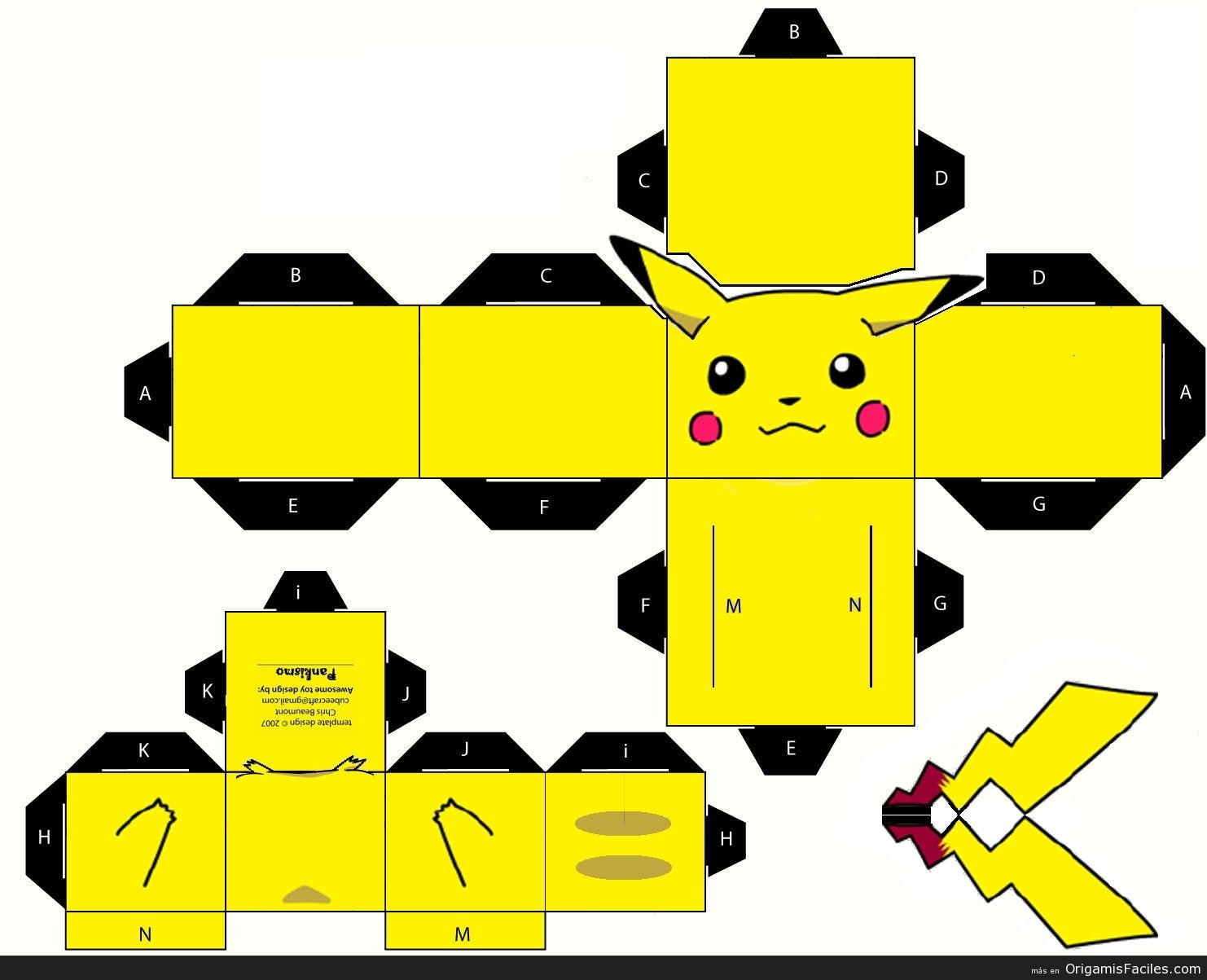 Puca Art Papercraft Kit Pokemon Pikachu
