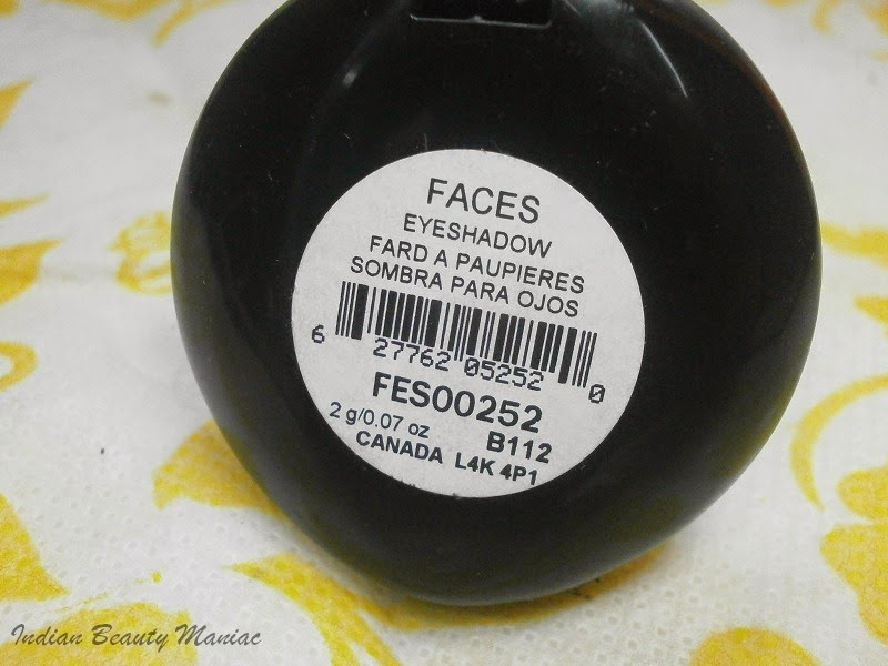 Faces cosmetics singles eyeshadow in Khaki Brown FES00252