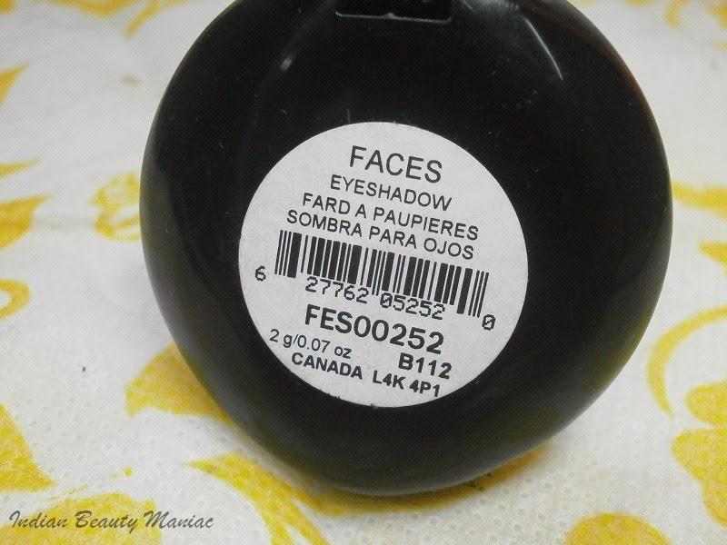 Faces cosmetics singles eyeshadow in Khaki Brown FES00252