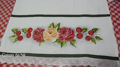 pintura de rosas e cerejas