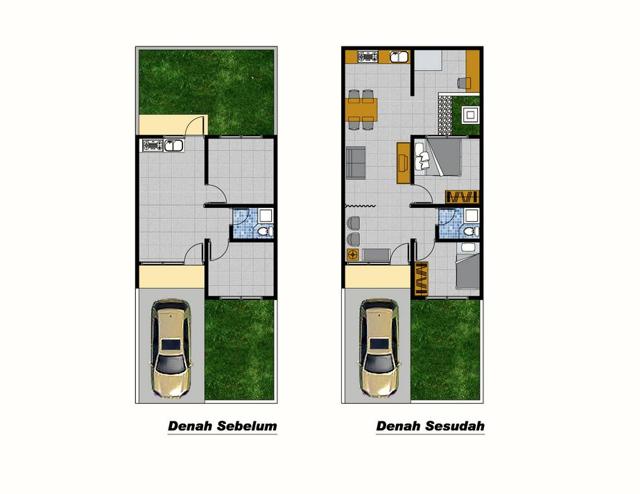 desain denah rumah sederhana tipe 36 yang menarik