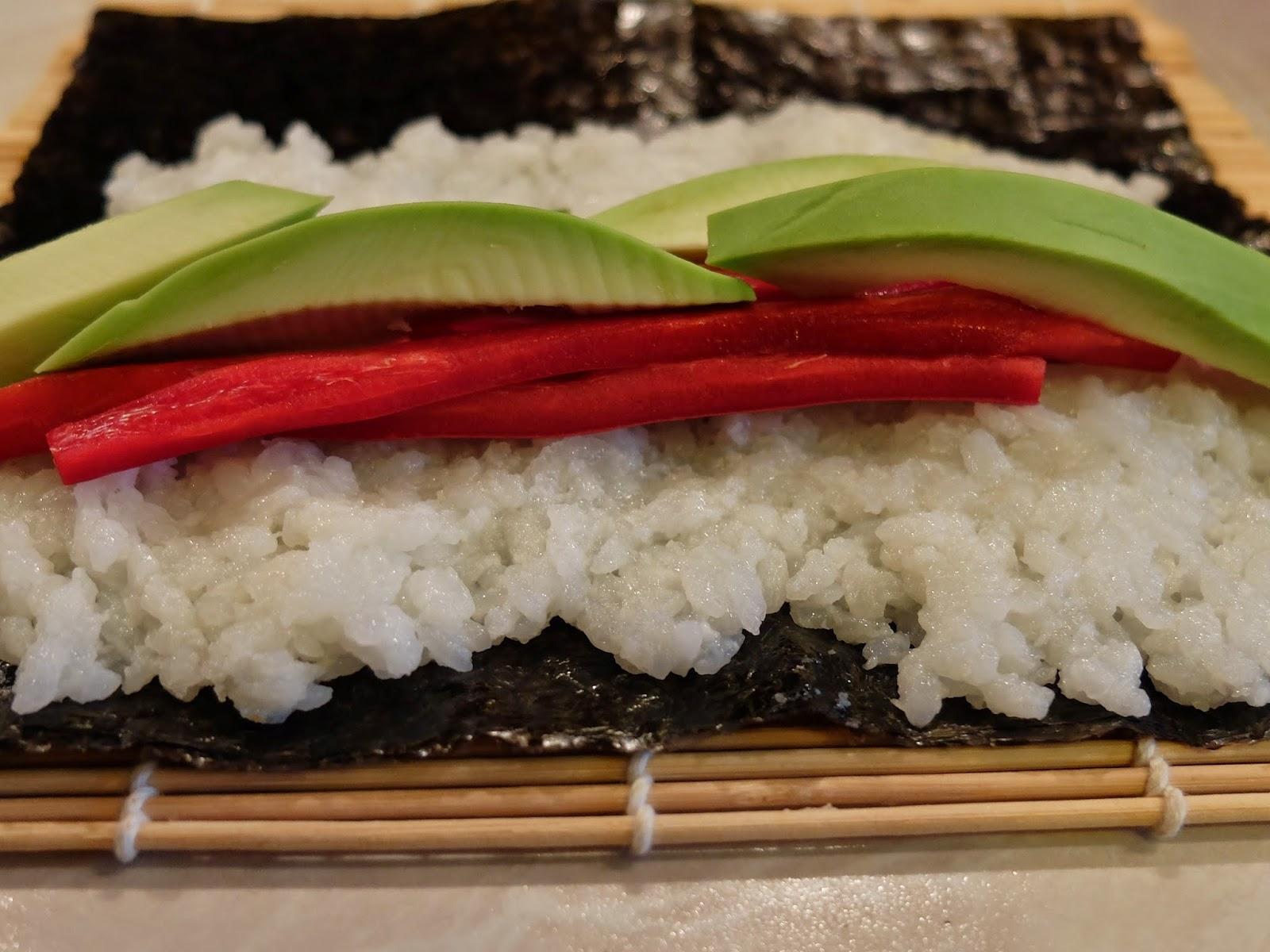 Futo-Maki Paprika-Avocado