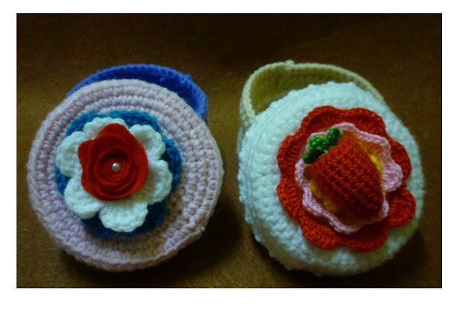 crochet cake container with lid amigurumi yarn pattern cake cute flower
