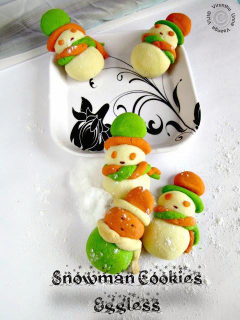 American-snowman-cookies