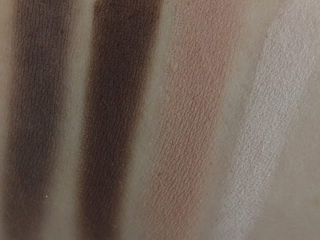 Urban Decay Naked Smoky Palette (swatches from left) Password, Whiskey, Combust, Thirteen