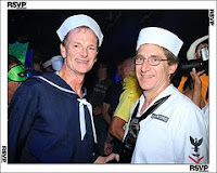 Dressed for the costume party as Seamen