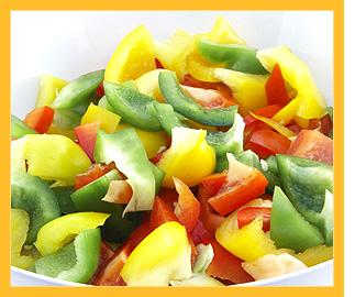 Recettes de salades salade de poivrons - Salade de poivron grille ...