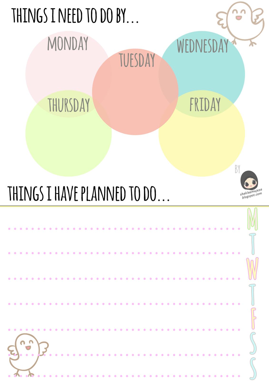 Free Download Weekly Planner