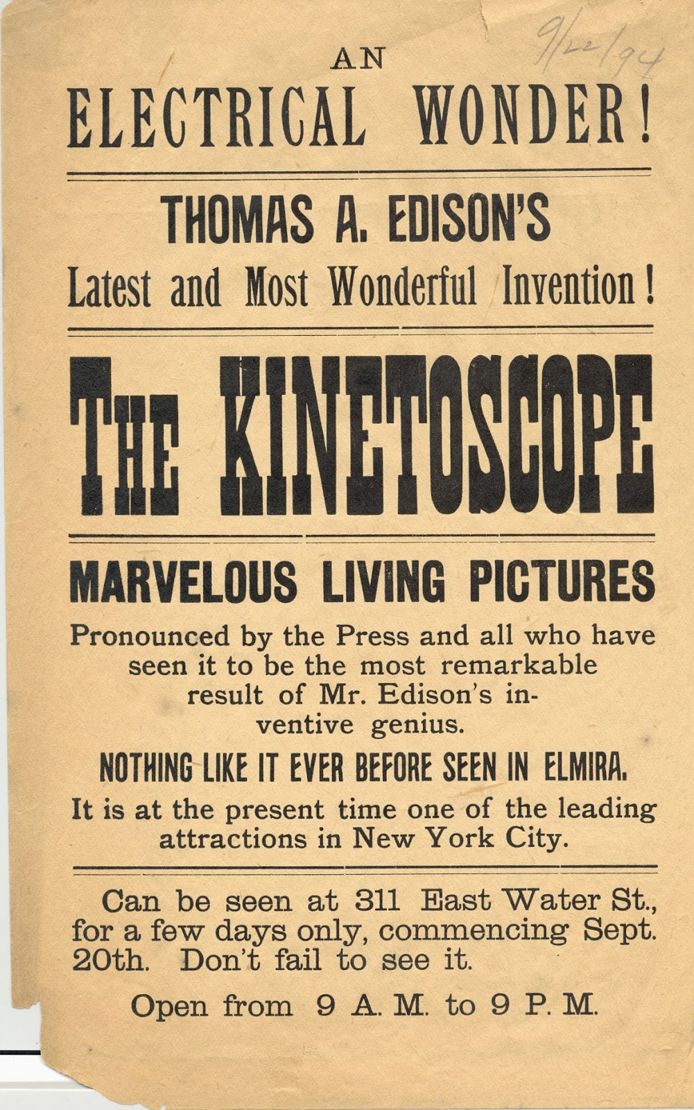 Chemung County Historical Society: Marvelous Living Pictures: Thomas ... for Kinetoscope Thomas Edison  155fiz