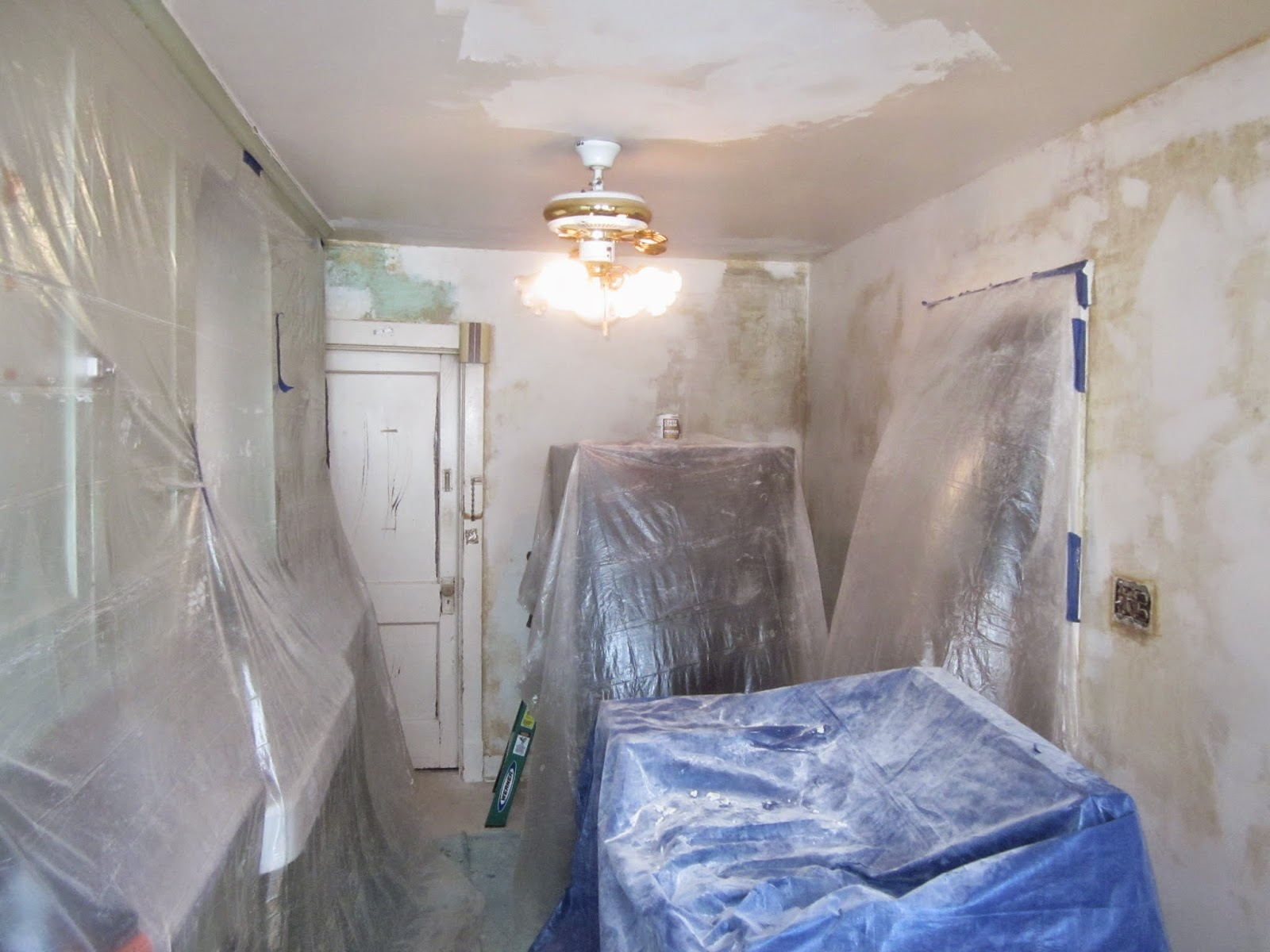 During kitchen remodeling