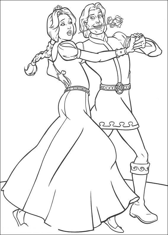 Shrek fiona coloring pages