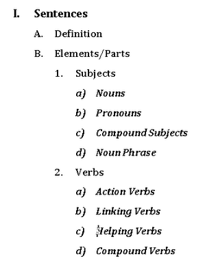 How to write a formal topic outline