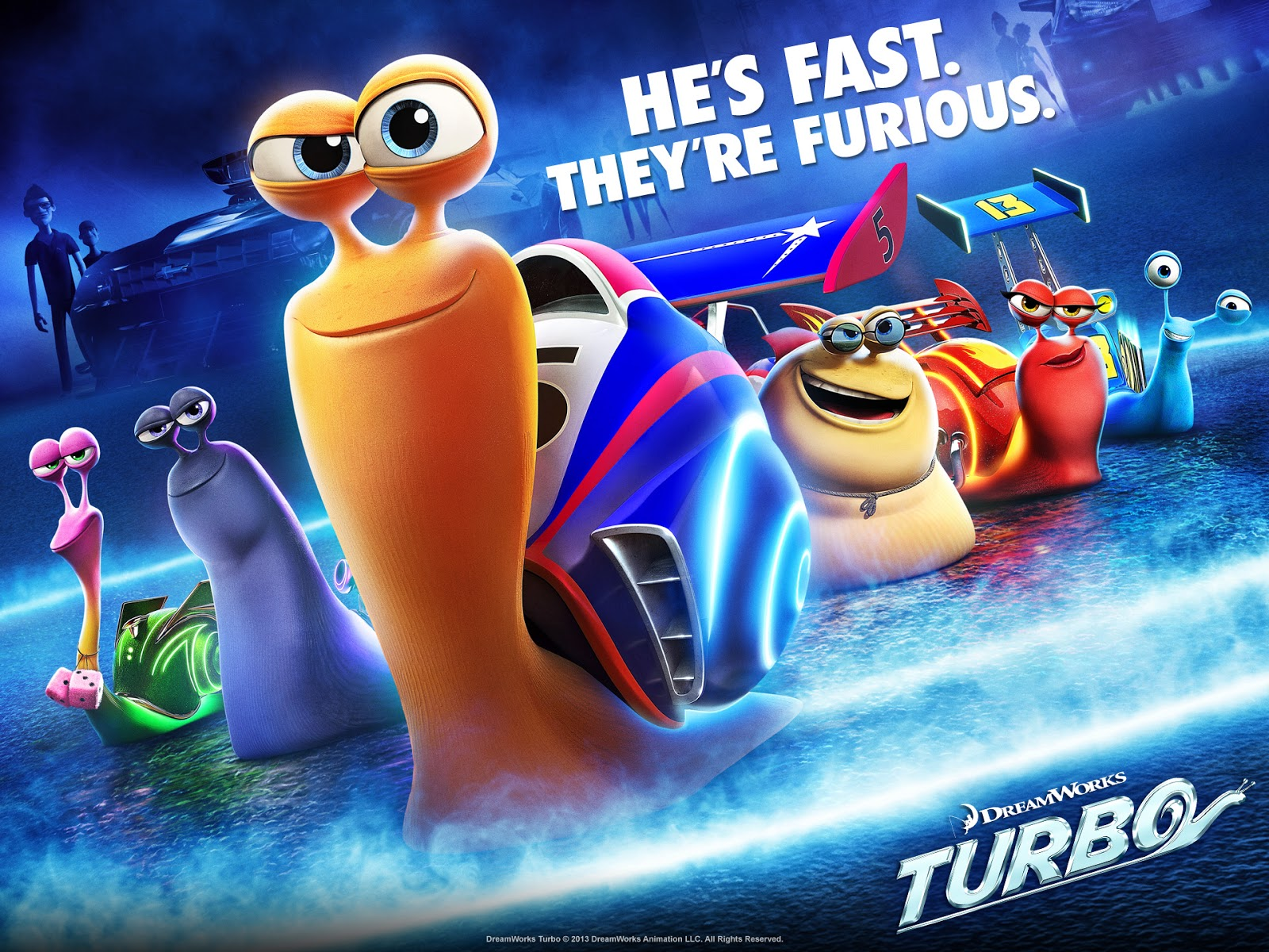Dreamworks turbo movie hd wallpapers character posters download free dreamworks turbo 3d movie poster hd wallpaper voltagebd Images