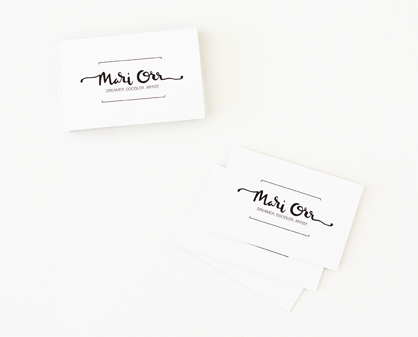 meandering mari: Painted Business Cards