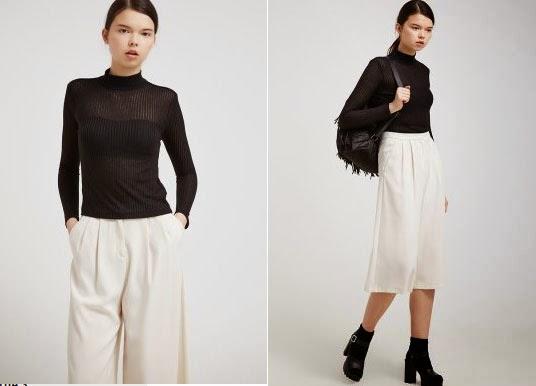 Ejemplos para combinar esta camiseta con una falda o pantalón claro.