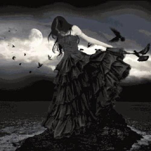 Gothic vampire woman