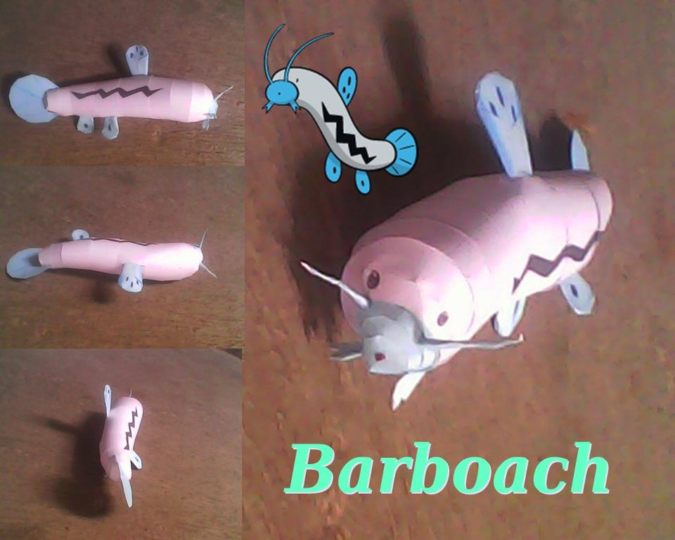 Pokemon Barboach Papercraft