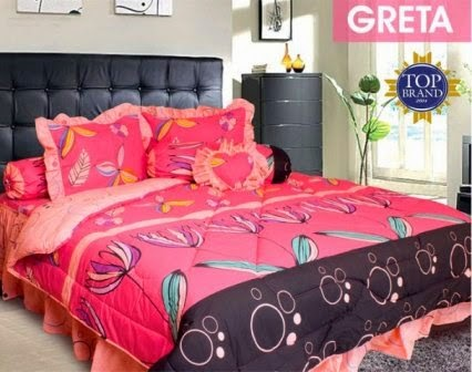 Jual Sprei Bed Cover My Love Greta