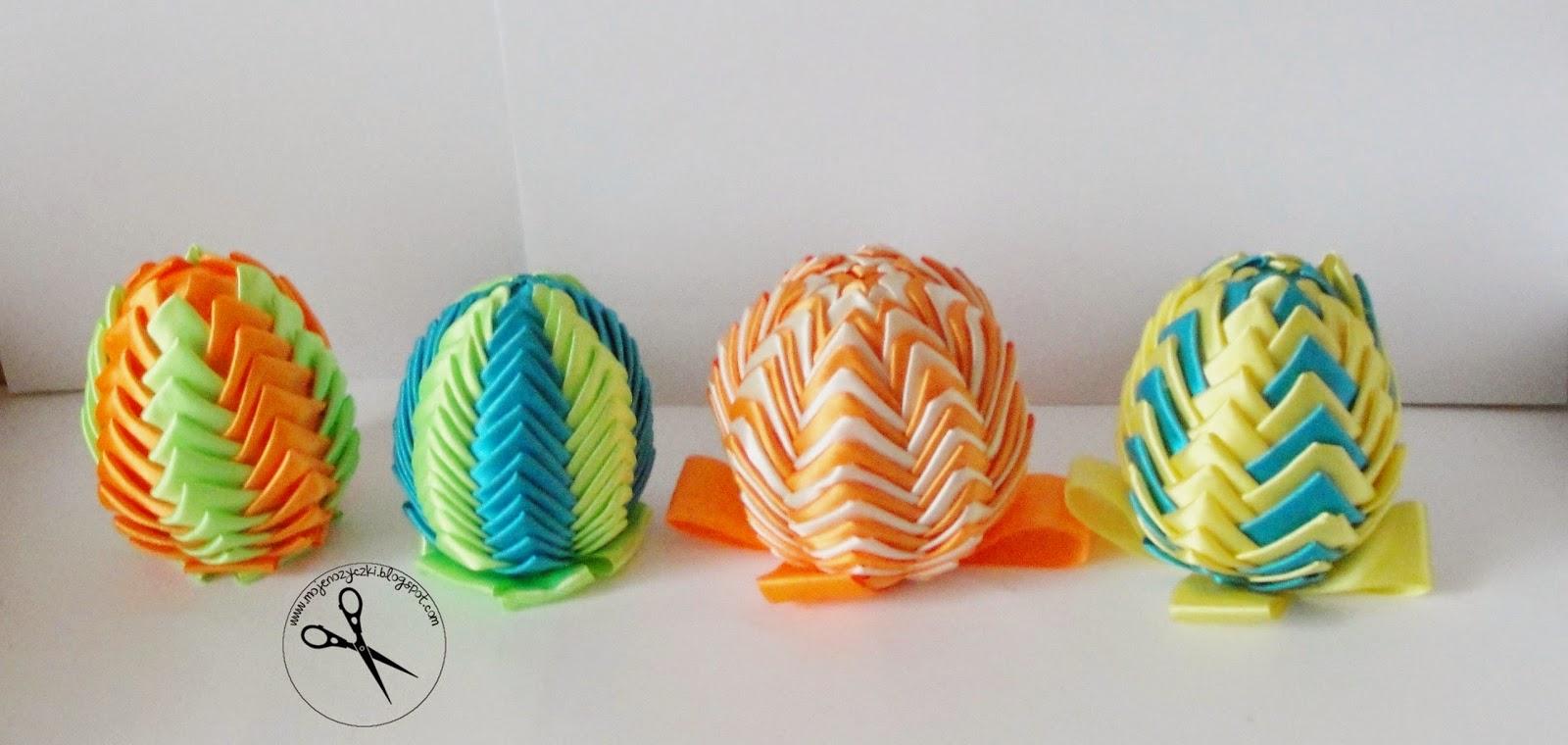 Jak wykonać ozdobne jajka ? Jak wykonać karczochy ? Jajka ze wstążki