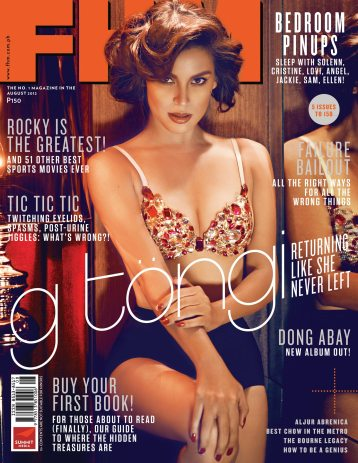 G Toengi Covers FHM August 2012 issue