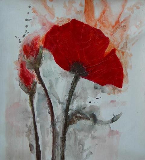 L 39 arte accessibile arredare con i dipinti a olio i fiori for Fiori di ciliegio dipinti