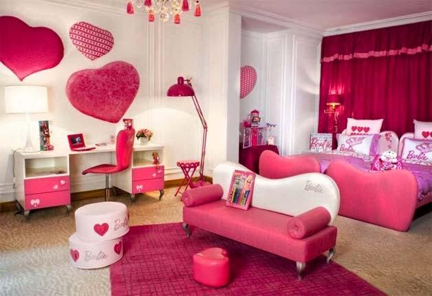 Habitaciones para niñas en color rosa 7