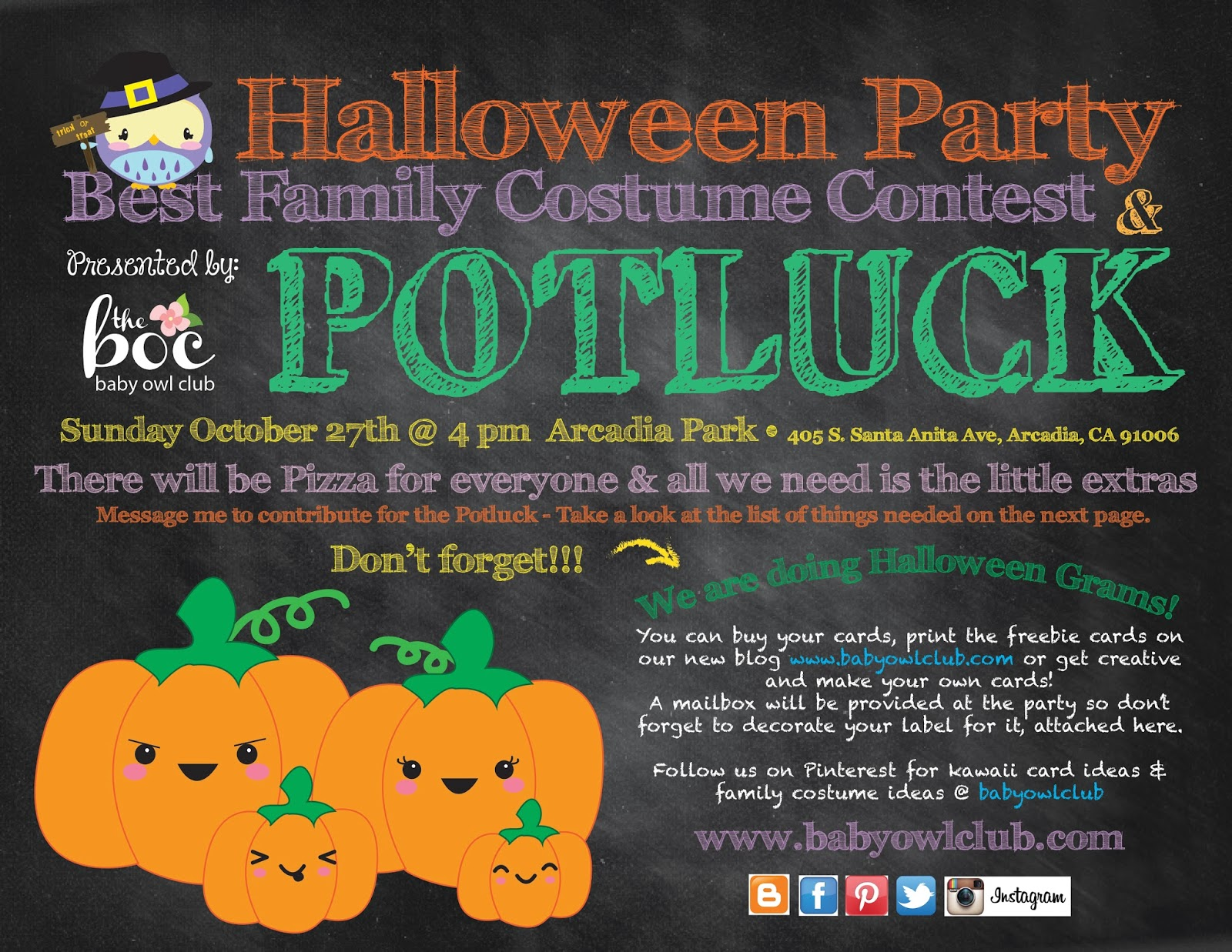 costume contest flyer template