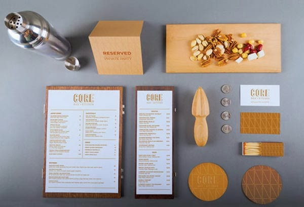 Great hand picked restaurant branding and identity