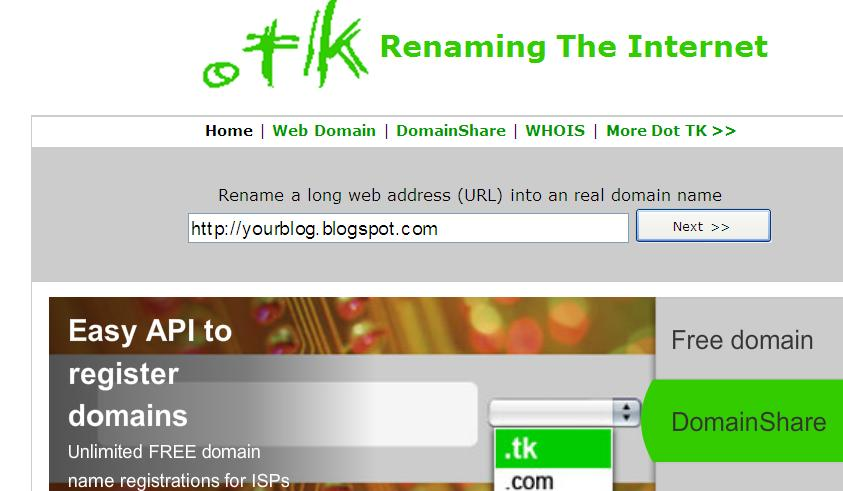free domain registry