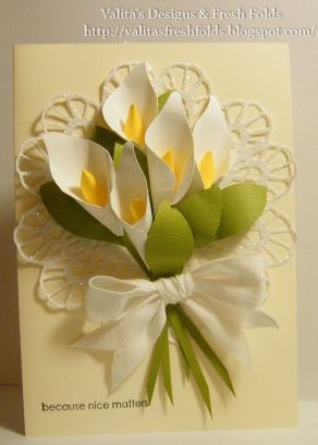 Valitas designs fresh folds calla lily paper art hi all firstly thank you for all you love support and comments each one has been very much appreciated thank you also for your fresh enthusiasm toward the mightylinksfo