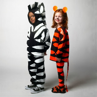 Zebra and Lion Costumes Made from Duct Tape