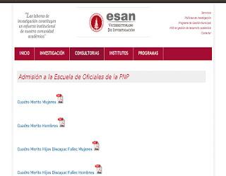 Resultados EO PNP 2014 Aprobados, exámen 18 de Mayo