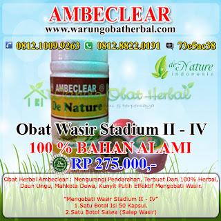 Obat Wasir Paket 2 De Nature Indonesia