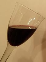 Wijnglas halfvol
