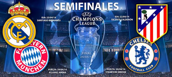 InfoDeportiva - Informacion al instante. RESULTADO SORTEO UEFA CHAMPIONS LEAGUE, SEMIFINALES