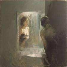 Una donna racconta lo specchio e tu - Specchio con lampade intorno ...